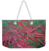 Japanese Red Leaf Maple Hybrid Weekender Tote Bag