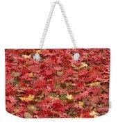 Japanese Red Maple Leaves Weekender Tote Bag