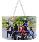 Jazz Band At Jackson Square Weekender Tote Bag by Bill Cannon