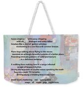 Jazz Changes - Poem Weekender Tote Bag