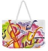 Jazz Deco Weekender Tote Bag