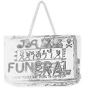 Jazz Funeral Sketch Weekender Tote Bag