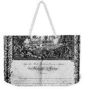 Jefferson: Degree, 1820 Weekender Tote Bag