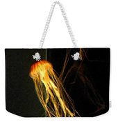 Jellyfish In Dark Weekender Tote Bag