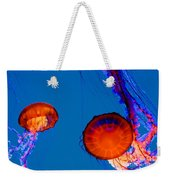 California Monterey Aquarium Jellyfish Exhibit  Weekender Tote Bag