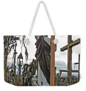 Jesus On The Hill Of Crosses. Lithuania Weekender Tote Bag