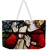 Jesus Stained Glass Weekender Tote Bag