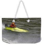 Jetboat In A Race At Grants Pass Boatnik Weekender Tote Bag