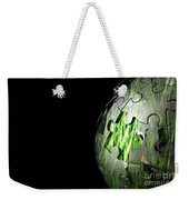 Jigsaw Globe With Grass Inside Weekender Tote Bag