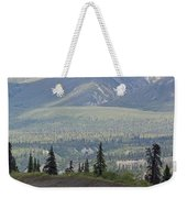 Jogger On The Glenn Highway And Chugach Weekender Tote Bag