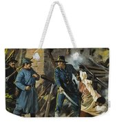 John Brown On 30 August 1856 Intercepting A Body Of Pro-slavery Men Weekender Tote Bag by Andrew Howart