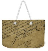 John Hancocks Signature Weekender Tote Bag