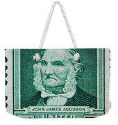John James Audubon Postage Stamp Weekender Tote Bag