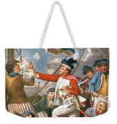 John Paul Jones Shooting A Sailor Who Had Attempted To Strike His Colours In An Engagement Weekender Tote Bag