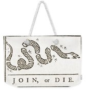 Join Or Die French And Indian War Weekender Tote Bag