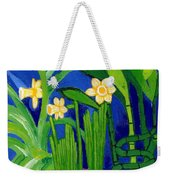 Jonquils And Bamboo Plant Weekender Tote Bag