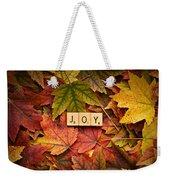 Joy-autumn Weekender Tote Bag