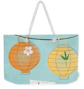Joy Lanterns Weekender Tote Bag by Linda Woods