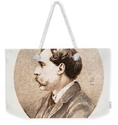 Jules A.h. De Goncourt (1830-1870). French Novelist: Engraving After A Contemporary Portrait On Enamel Weekender Tote Bag