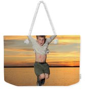Jumping For Joy Weekender Tote Bag by Ted Kinsman