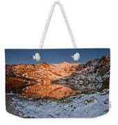 June Snowfall At Angel Lake Weekender Tote Bag