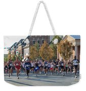 Just After The Gun At A Running Race On A Town Street Weekender Tote Bag