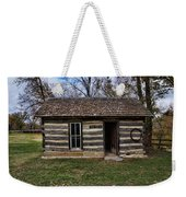 Kansas Log Cabin Weekender Tote Bag