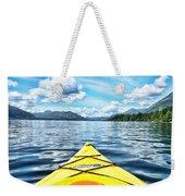 Kayaking In Bc Weekender Tote Bag