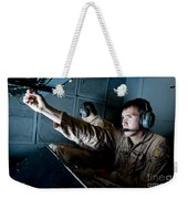 Kc-10 Extender Boom Operator Adjusts Weekender Tote Bag