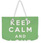 Keep Calm And Love Cupcakes Weekender Tote Bag