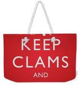 Keep Clams And Carrion Weekender Tote Bag