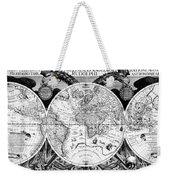 Keplers World Map, Tabulae Weekender Tote Bag by Science Source