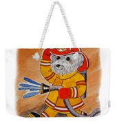 Kids Art Firedog Firefighter  Weekender Tote Bag