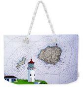 Kilauea Point Lighthouse On Noaa Chart Weekender Tote Bag
