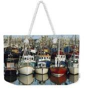Kilkeel, Co Down, Ireland Rows Of Boats Weekender Tote Bag