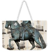 King Charles IIi Statue In Madrid Weekender Tote Bag