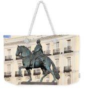 King Charles IIi Statue On Puerta Del Sol Weekender Tote Bag