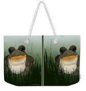 King Frog - Gently Cross Your Eyes And Focus On The Middle Image Weekender Tote Bag