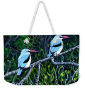 Woodland Kingfisher Weekender Tote Bag