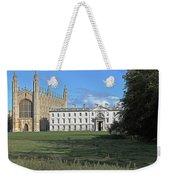 Kings College Chapel And The Gibbs Building Weekender Tote Bag