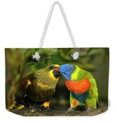 Kissing Birds Weekender Tote Bag
