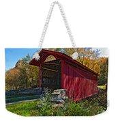Kissing Bridge 2 Painted Weekender Tote Bag