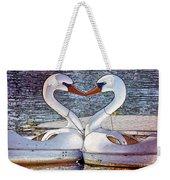 Kissing Swans Weekender Tote Bag