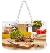 Kitchen Still Life Preparation For Cooking Weekender Tote Bag