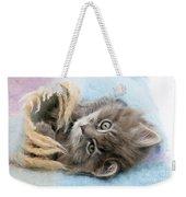 Kitten In Blanket Weekender Tote Bag