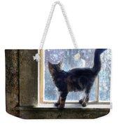 Kitten On Windowsill Of Abandoned House Weekender Tote Bag