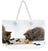 Kittens Playing Checkers Weekender Tote Bag