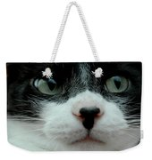 Kitty Closeup Weekender Tote Bag