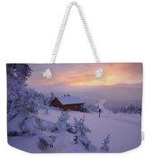 La Chouette Cabin At Twilight, Gaspesie Weekender Tote Bag