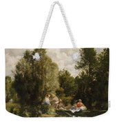 La Mare Aux Fees Weekender Tote Bag by Pierre Auguste Renoir